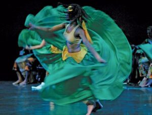Me - circa 2007 - performing with Ballet Creole at Fleck Dance Theatre